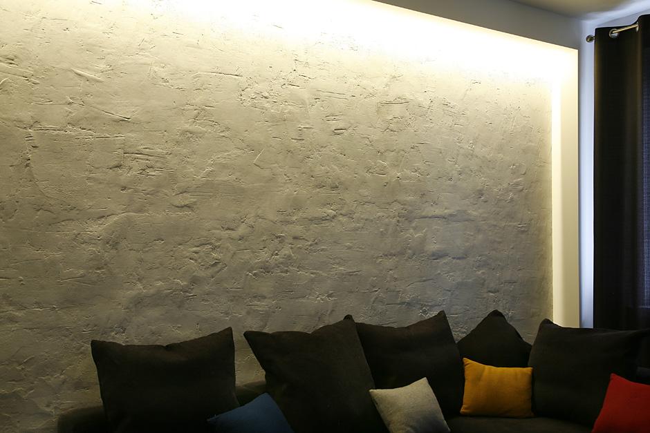 Beton artystyczny w salonie