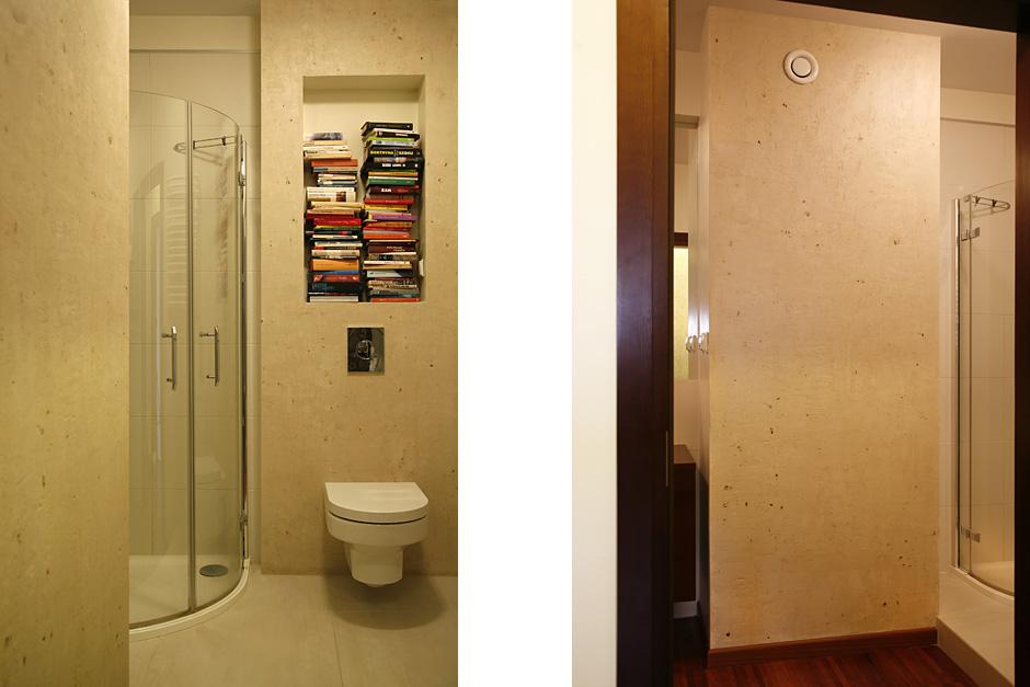 Naturalny tynk w łazience