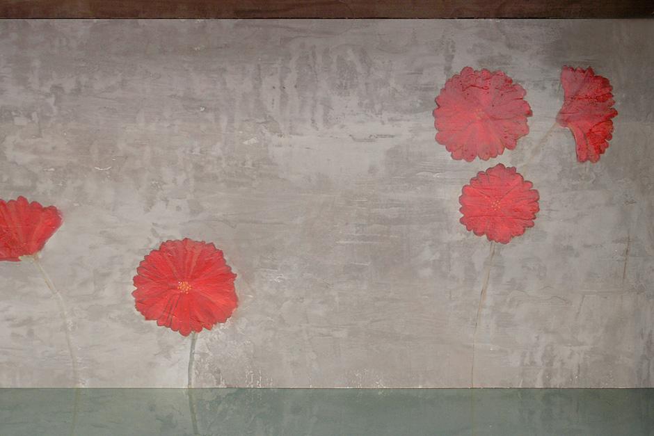 Chryzantemy na betonie