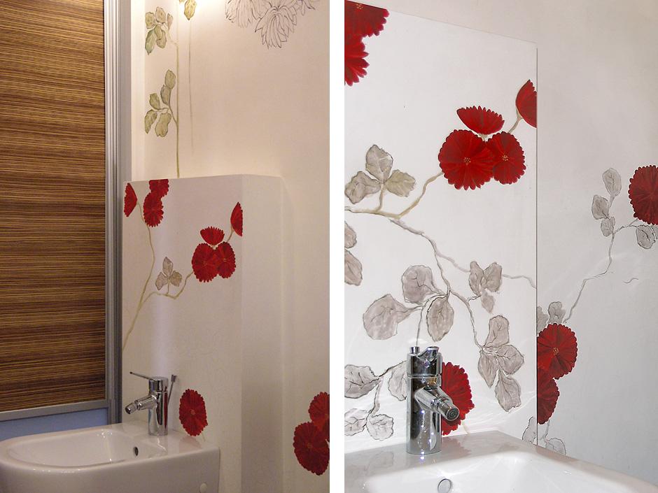 Kwiaty w łazience